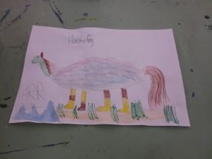 Heidi's creation of a horse, turtle, fish, and dog