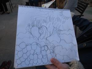 LeeAnn's plan in her sketchbook.